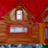 Montana Log House Circa 1990